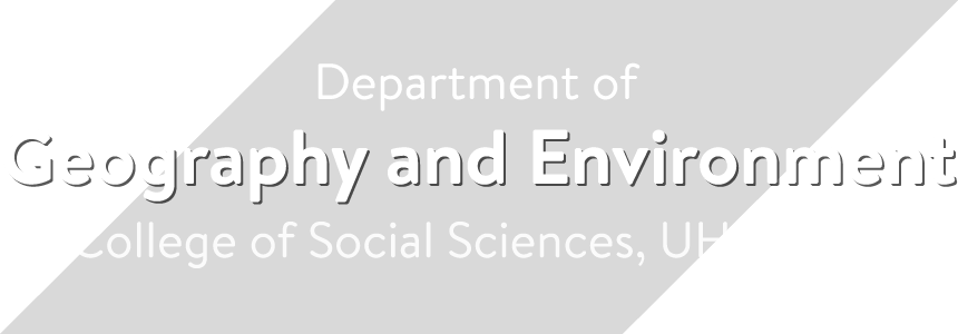 Department of Geography and Environment, UH Mānoa