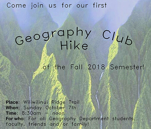 GEOG Club Hike - Fall 18