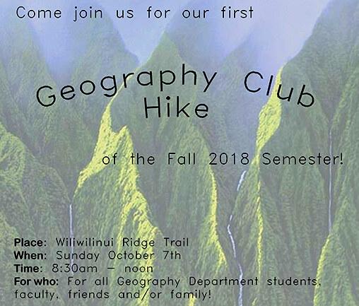 GEOG Club Hike - Fall 18
